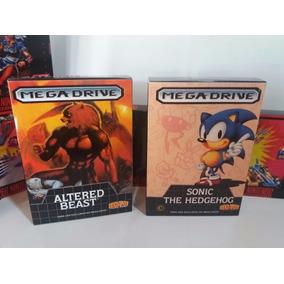 Caixas Mega Drive/genesis + Berço Para O Cartucho