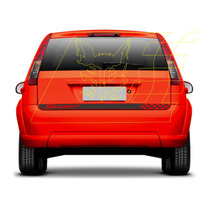 Adesivo Porta Malas Fiesta Rocam Hatch Faixa Sport Acessório