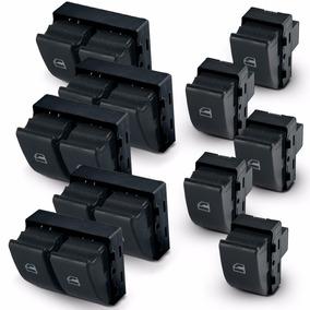 Kit Botao De Vidro Eletrico Fox Gol G4 G5 G6 5-pares