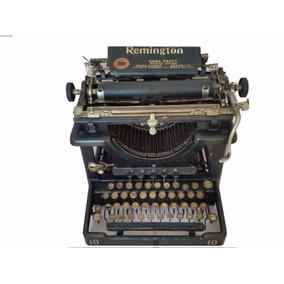 Máquina De Escrever Antiga Remington 10 Na Caixa Original