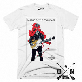 Remera Doble Nelson Queens Of The Stone Age Hombre Tour