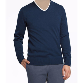 d0d7e1e3a4 Sueter Masculino - Suéteres e Cardigans Azul marinho no Mercado ...