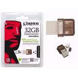 Memoria Otg Usb 2.0 Kingston 32gb Microduo Pc Smartphone
