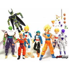 Dragon Ball Kit 8 Bonecos Dragonball Personagem Articulados