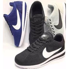 Zapatillas Nike Cortez Ultra Negra Y Azul 2017 Hombre -boedo
