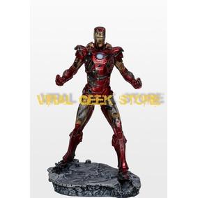 Iron Man Damage/homem De Ferro Armadura Danificada Resina