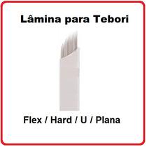 Lamina Tebori Sobrancelha Microblading Flex, Hard, U, Plana