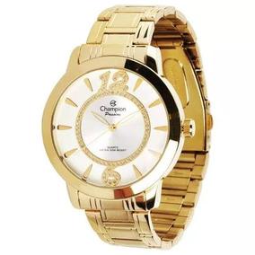 Relógio Champion Feminino Banhado A Ouro Ch24259h Nf