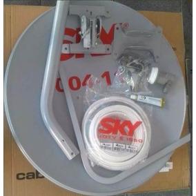 Antena Ku 60cm + Lnb Simples Universal + 15m Cabo + Conector