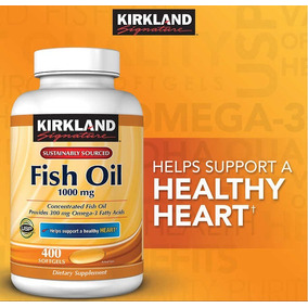 Fish Oil Kirkland 1000mg 400softgels Val.06/2020 Imp.usa