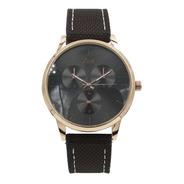 Reloj Zeit  Hombre  Tela  Cafe - Cb00019072