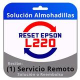 Reset Epson L220 Servicio Remoto Inmediato En 5 Minutos.