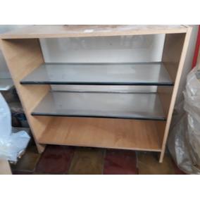 Mueble Madera Con Vitrina Para Kiosco Con Estantes De Vidrio