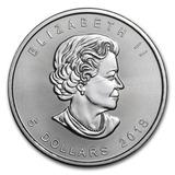 Moneda De 5 Dolares Canada 2018 En Plata .999 1 Onza