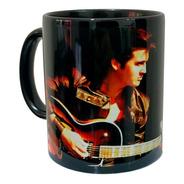 Elvis Presley - Caneca Preta De Louça