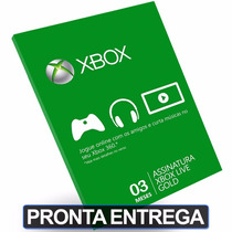 Cartão 3 Meses Card Xbox Live Gold Us Br Brasil