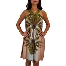 Vestido Cantão Silk Palm Beach