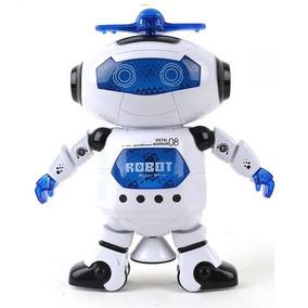 Robô Dança 360° - Gira - Música E Iluminação - Brinquedo
