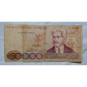 Cédulas Notas Antigas, 50 Mil Cruzeiros
