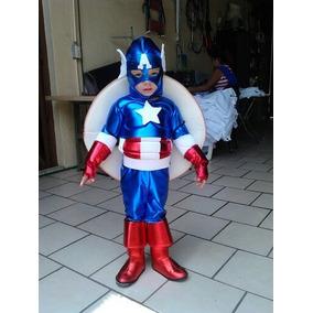 Disfraz Tipo Capitan America, Excelente Calidad. Envío Grati