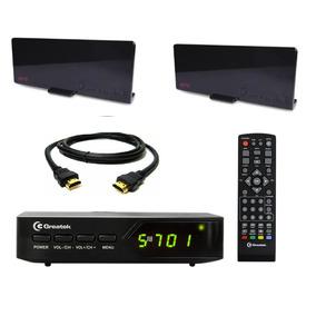 G-200 Conversor Digital Para Canais +2 Antenas 5dbi Greatek