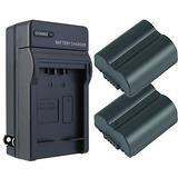 Panasonic Lumix Dmc-fz7 Batería (2-pack) Amp; Kit Cargador