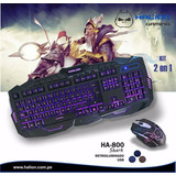 Combo Gamer Mouse + Teclado Shark Anti-ghosting Halion