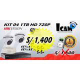 Kit 04 Camaras De Seguridad Hikvision 1tb + Instalacion
