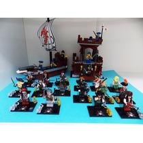 Piratas Do Caribe Jack Sparrow Vilôes E Barco Pirata Lego