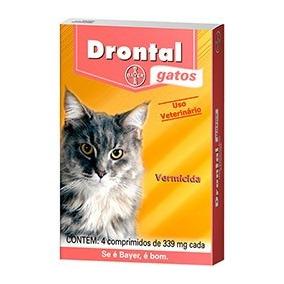 4 Caixas Drontal Gatos Bayer 4 Comprimidos - Val 01/18