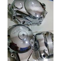 Tampas Do Motor Para Titan Fan 150 Cromada Partida Elétrica