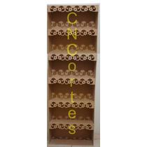 Armário De Chão 1,8m Mdf Provençal Decoração Estante M3