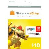 Nintendo Éshop Card 10 Usd Para Cuentas Usa