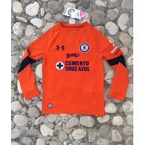 Jersey Cruz Azul Portero Naranja Infantil Under Armour 2017