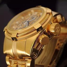 Relógio Invicta 12763 Zeus Gold Skeleton Com Caixa Jfj1143