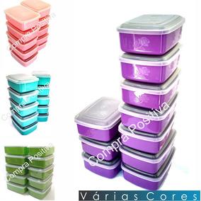Potes Herméticos De Plástico Para Alimentos Kit C/10 1000ml