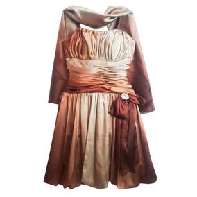 Vestido Marrom Médio Para Coquetel Vestidos Femininos