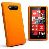 Capa Capinha Silicone Color - Nokia Lumia 820 + Película