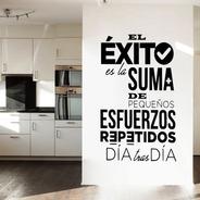 Vinil Decorativo Para Pared Frases Letras El Éxito Es La...