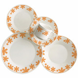 Jogo Para Jantar Ceramica Com 20 Peças Floral Fanny Oxford