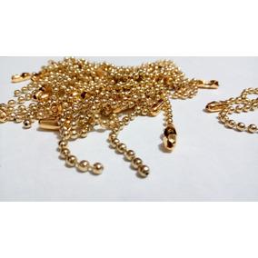 100 Correntinha P/ Tag 8cmx2,5mm Latonada/dourada Chaveiro