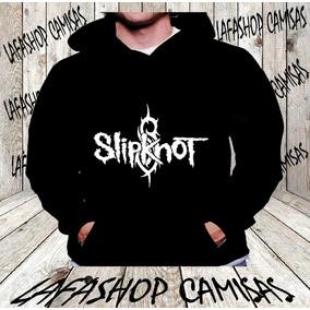 Blusa Moletom Slipknot Capuz E Bolso Banda Camisa Rock Frio