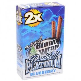 Blunt Wrap Double Platinum Caixa Com 25 Original Blueberry