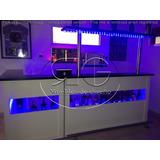 Barra Bar Con Esquinero Y Estante Copero Con Led Rgb