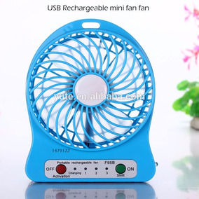 Ventilador Portatil Recargable Usb 3 Velocidades C/bateria