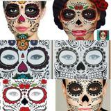Set 50 Tatuajes Catrina Halloween Hombre Mujer Envio Gratis