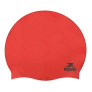 Touca De Natação Em Silicone Slim - Vermelho - Muvin Tcs-300
