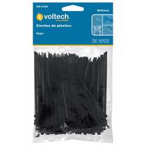 100 Cinchos De Plastico Negros De 15 Cm 18 Lb Voltech 44321