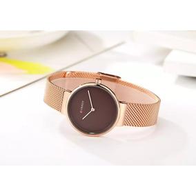 Relógio Feminino Curren Super Fino- Aço Inoxidável