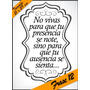Laminas Autoadhesivas - Frase #12 - 21 X 29 Cm - Precio 2 X